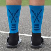 Skiing Printed Mid-Calf Socks - Team Colors