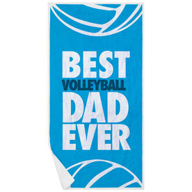 Volleyball Premium Beach Towel - Best Dad Ever