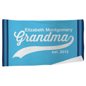 Personalized Beach Towel - Rocking Being A Grandma