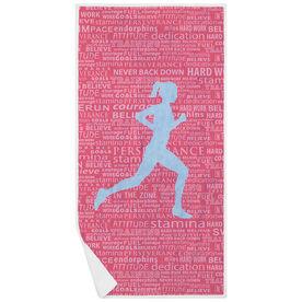 Running Premium Beach Towel - Inspiration Female