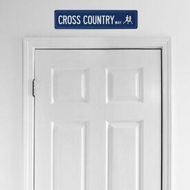 """Cross Country Aluminum Room Sign - Cross Country Way (4""""x18"""")"""