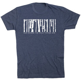 Running Short Sleeve T-Shirt - Run Where the Wild Things Are