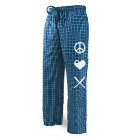Baseball Lounge Pants Peace Love Baseball
