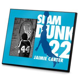 Basketball Photo Frame Personalized Basketball Slam Dunk