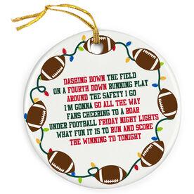 Football Porcelain Ornament Jingle All The Way