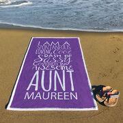 Personalized Premium Beach Towel - That's My Aunt