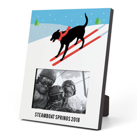 Skiing Photo Frame - Vintage Dog