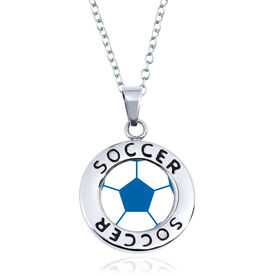 Soccer Circle Necklace - Ball