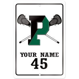 """Room Sign (18""""x12"""") - Personalized Pentucket Youth Lacrosse Logo"""