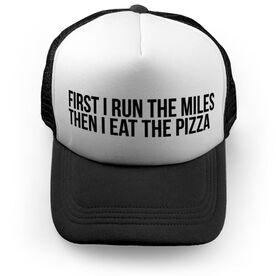 Running Trucker Hat - Then I Eat The Pizza