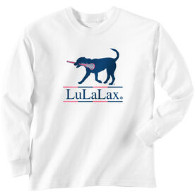 Girls Lacrosse Long Sleeve T-Shirt - LuLaLax Logo