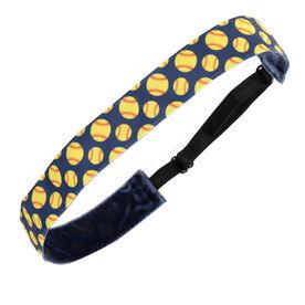 Softball Juliband Non-Slip Headband - Tossed Softball Pattern