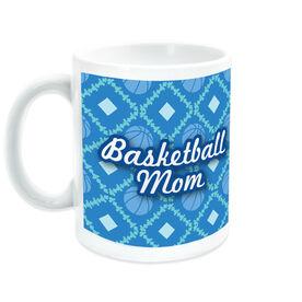Basketball Coffee Mug Mom With Ball Pattern