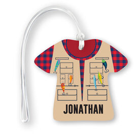 Personalized Jersey Bag/Luggage Tag - Fisherman Outfit