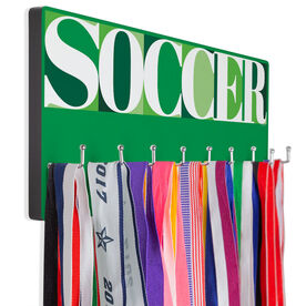 Soccer Hooked on Medals Hanger - Soccer Mosaic