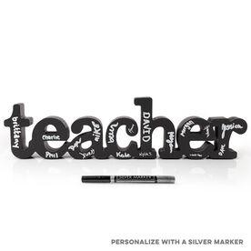 Teacher Wood Words Ready to Autograph