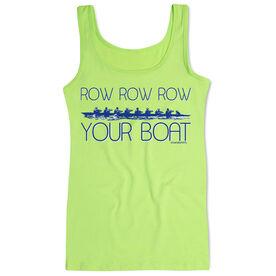 Crew Women's Athletic Tank Top Row Row Row Your Boat