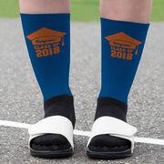 Personalized Printed Mid-Calf Socks - My Graduation