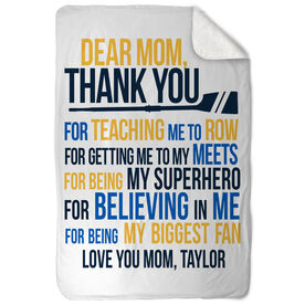 Crew Sherpa Fleece Blanket - Dear Mom