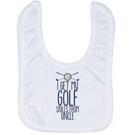 Golf Baby Bib - I Get My Skills From