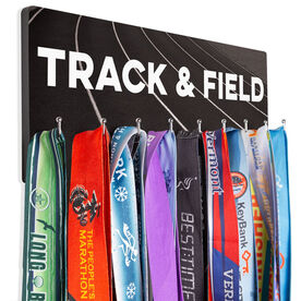 Track And Field Hooked on Medals Hanger - Choose Your Track Background