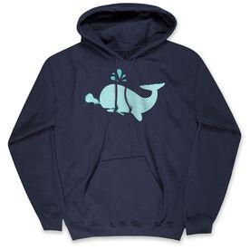 Girls Lacrosse Standard Sweatshirt - Chevron Lax Whale