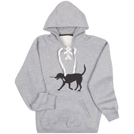 For Hockey Players Only Sweatshirt - Howe the Hockey Dog
