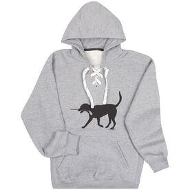 Hockey Sport Lace Sweatshirt - Howe the Hockey Dog