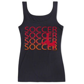 Soccer Women's Athletic Tank Top Fade