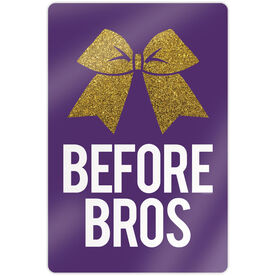 "Cheerleading 18"" X 12"" Aluminum Room Sign - Bows Before Bros"