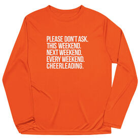 Cheerleading Long Sleeve Performance Tee - All Weekend Cheerleading