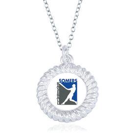 Baseball Braided Circle Necklace - Custom Logo