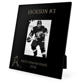 Hockey Engraved Picture Frame Name and Number (Player Silhouette)
