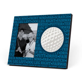 Golf Photo Frame - Ball With Terms