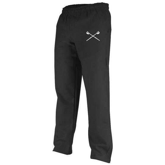 Rowing Oars Silhouette Fleece Sweatpants