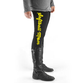 Softball High Print Leggings Softball Mom