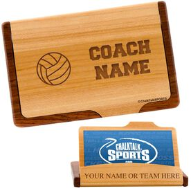 Volleyball Coach Business Card/Credit Card Holder