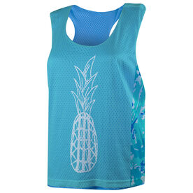 Girls Lacrosse Racerback Pinnie - Lax Pineapple