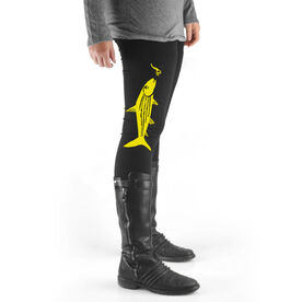 Fly Fishing High Print Leggings Bonefish