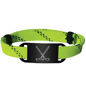 Hockey Lace Bracelet Crossed Sticks Adjustable Wrister Bracelet
