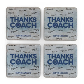 Hockey Stone Coasters Set of Four - Coach (Autograph)