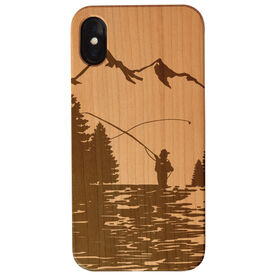 Fly Fishing Engraved Wood IPhone® Case - Fishing Adventure