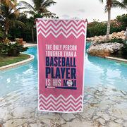 Baseball Premium Beach Towel - Tougher Than A Baseball Player