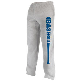 Baseball Fleece Sweatpants Bat Baseball