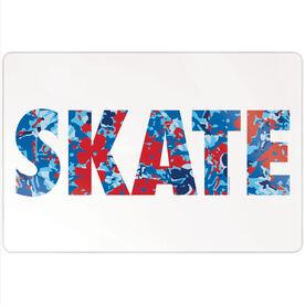"""Figure Skating 18"""" X 12"""" Aluminum Room Sign - Floral Skate"""