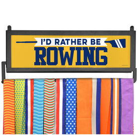 AthletesWALL Medal Display - I'd Rather Be Rowing