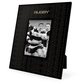 Rugby Engraved Picture Frame - Repeat Pattern