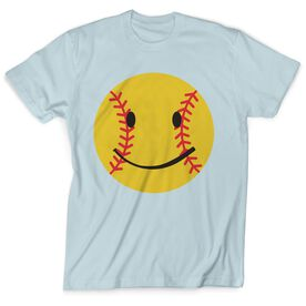 Softball T-Shirt Short Sleeve Smiley