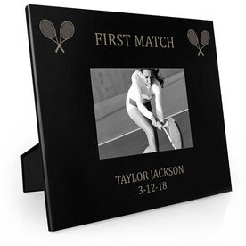 Tennis Engraved Picture Frame - First Match