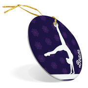 Gymnastics Porcelain Ornament Beam